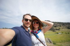 Liv and I at the startof our trip, somewhere in Montana.