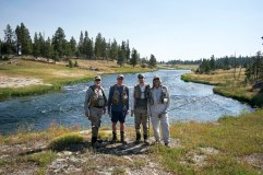 Fishermen at Yellowstone, WY