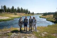 Fishermen at Yellowstone, WY