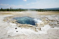 One of the many geothermal features scattered throughout Yellowstone