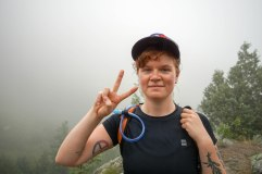 Olivia hiking near Boulder, CO