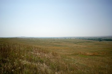 The battlefield of Little Bighorn where Sitting Bull defeated Custer